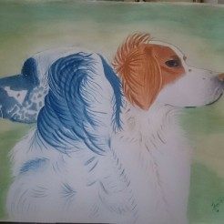 Settrar i vinden, akvarell