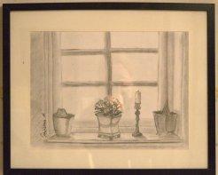 Fönstret mot framtiden, kolteckning. Att se ut genom ett fönster eller att se vad som är i ett fönster vilket är viktigast?