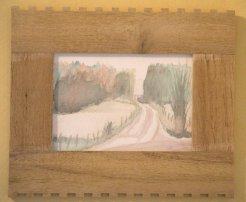 Landsvägen, Akvarell. Var ute och åkte fick se detta vägsjäl-bara kände för att stanna och måla, så blev den till.