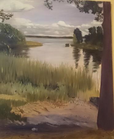 Doversund, Oljemålning som är målad precis bredvid doversundsbron.