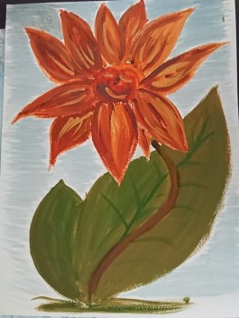 Fantasi blomma/Fantasy flower 30X40 cm 1000:-