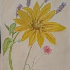 Ängsbukett Akvarell 25X30 cm
