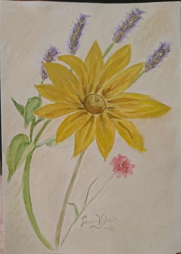 Ängsbukett Akvarell 25X30 cm 1000:-